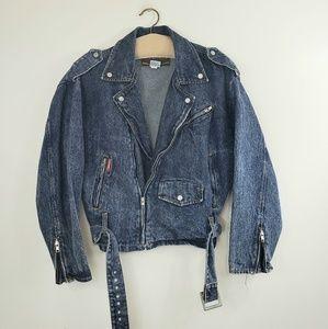 Jordache Basics vintage jean moto jacket
